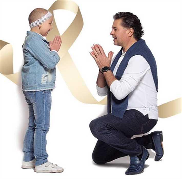 راغب علامة يتعهد بدعم الأطفال