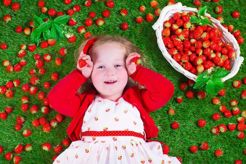 فوائد الفراولة للطفل