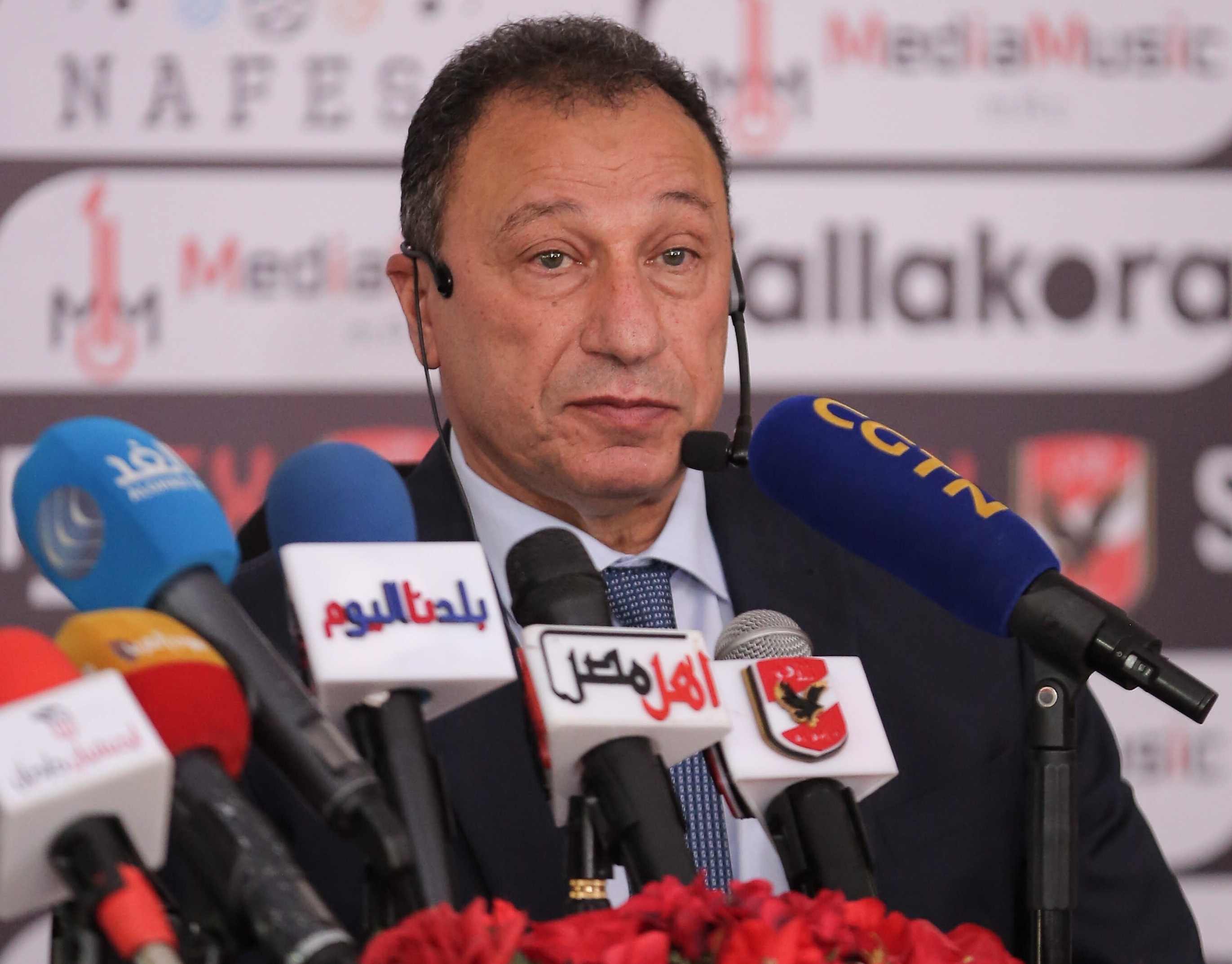 محمود الخطيب في مؤتمر سبورتكس