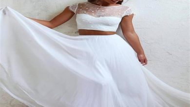 فستان الزفاف ثنائي القطعة موضة 2019