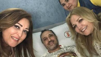 نهال عنبر تزور شريف مدكور في المستشفى