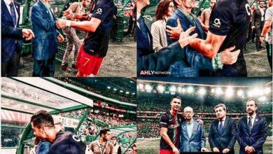 قطه من اللقطات العظيمه جدا ، الدون رونالدو مع مكتشفه أوريليو بيريرا قبل مباراة لوكسمبورج في تصفيات أوروبا