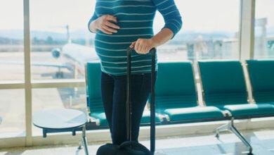نصائح رحلة الطائرة أثناء الحمل