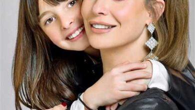ايمان العاصي و ابنتها