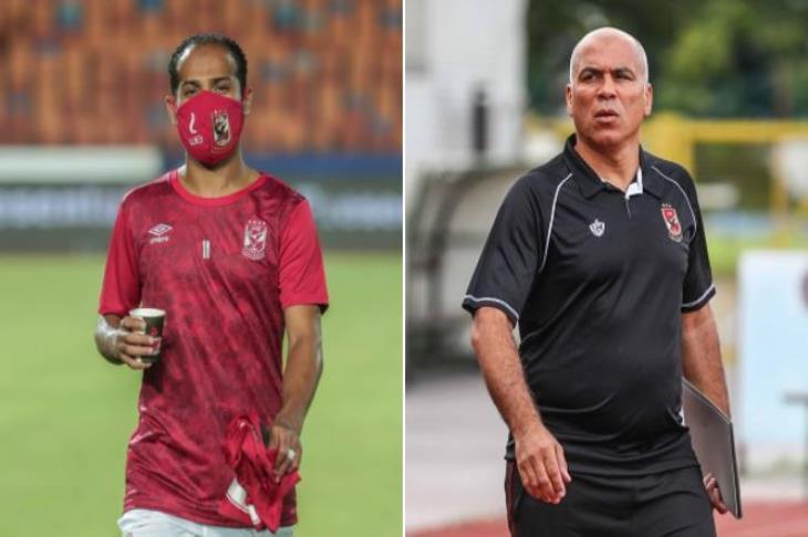 محمد يوسف ووليد سليمان لاعب الأهلي