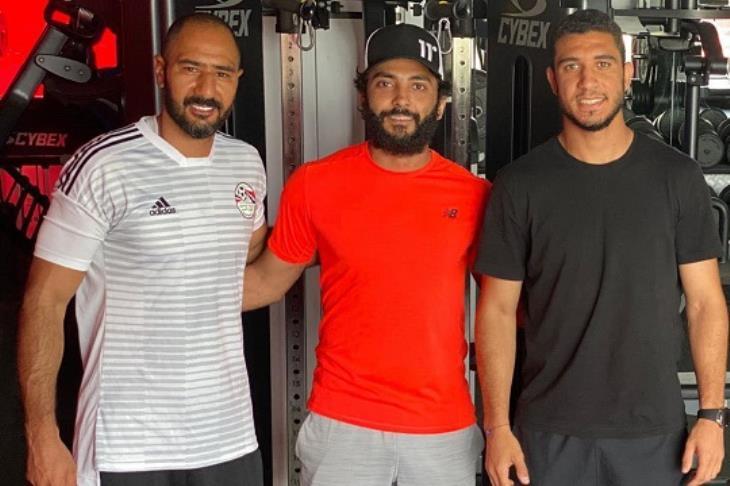 محمود حمدي مع رامي ربيعه و محمد شوقي