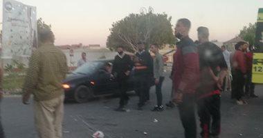 إصابة 6 أشخاص فى حادثى انقلاب سيارة وتصادم دراجتين ناريتين بالوادى الجديد