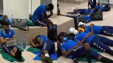 احتجاز لاعبو الجابون في المطار