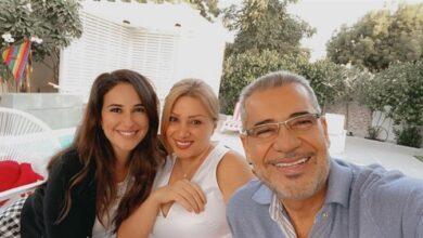 شيري عادل مع مصطفى الآغا وزوجته