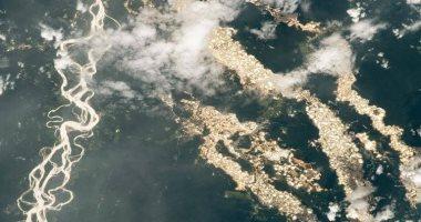 صورة من الفضاء لمناطق تعدين الذهب فى بيرو
