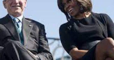 بوش وميشيل اوباما
