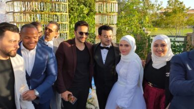 من حفل زفاف مصطفى عاطف