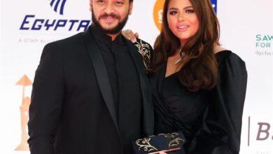 هنادي وزوجها أحمد خالد صالح