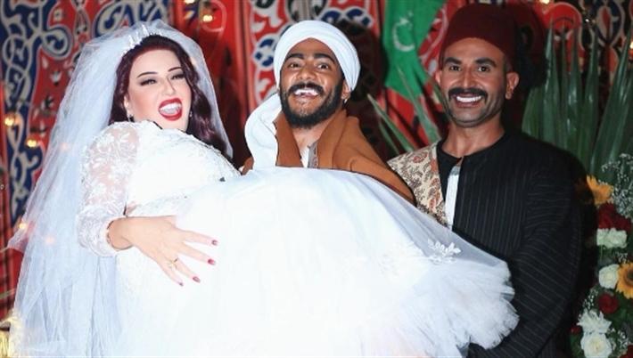 أحمد سعد وسمية الخشاب مع محمد رمضان