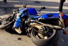حادث تصادم دراجة نارية