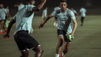 صورة من مران الأهلي في الدوحة
