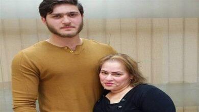 نادية العراقية وابنها أدهم