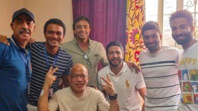 آسر ياسين مع شريف دسوقي وأبطال بـ100 وش