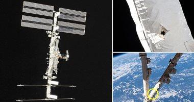 توضيح مكان اصابة محطة الفضاء الدولية