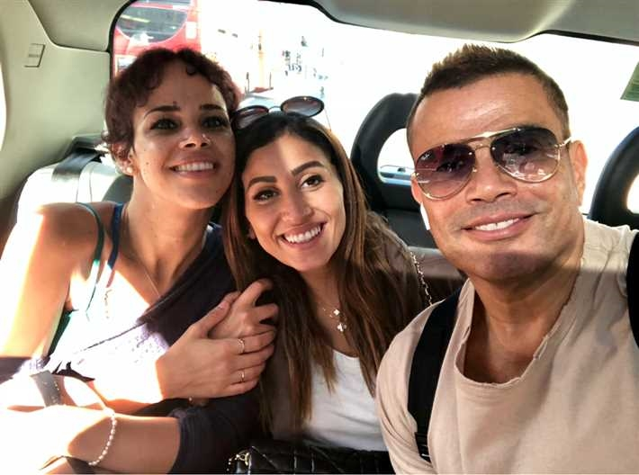 عمرو دياب ودينا الشربيني ونور