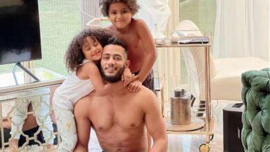 محمد رمضان وأبنائه