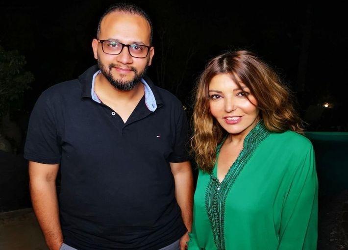 سميرة سعيد والمنتج محمد رشيدي