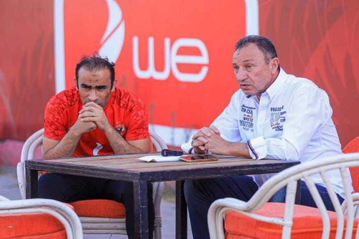 محمود الخطيب في مران الأهلي