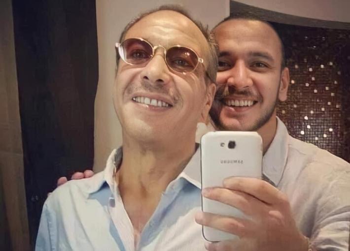 أحمد خالد صالح ووالده خالد صالح