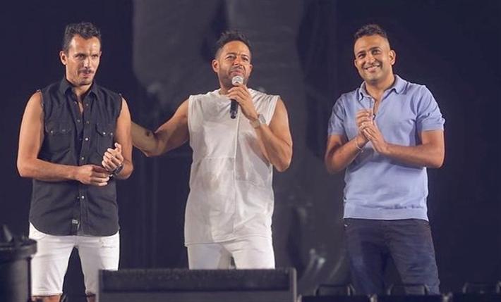 تامر حسين ومحمد حماقي وأحمد إبراهيم