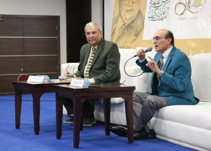 لقاء محمد صبحي في معرض الكتاب