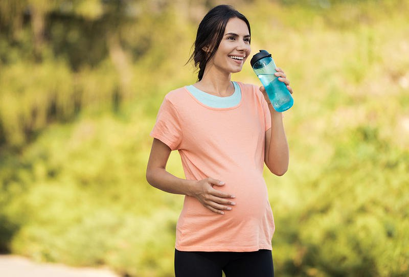 المشي في الشهر التاسع من الحمل