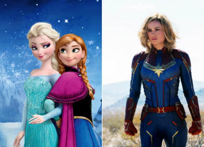 تشابهات بين Frozen وCaptain Marvel