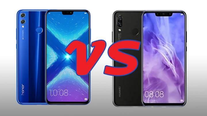 مقارنة بين هاتفي Honor 8X و Huwawei Y9